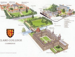 Clare college grounds