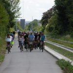People cycling next to Cambridgeshire Guided Busway. Photo by Keith Edkins.