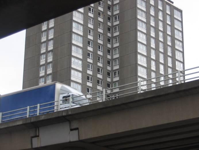 Urban motorway in Glasgow